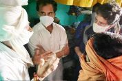 Priyanka Rahul meet Hathras victims family
