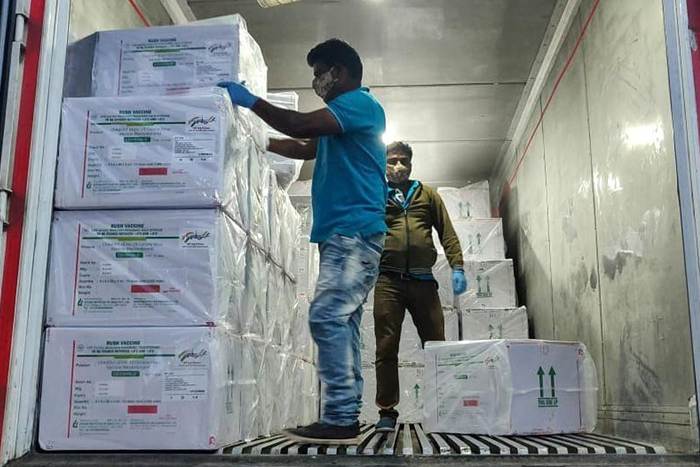 """""""Stand By, India"""": Serum Institute Sends Out Vaccines, 1st Batch In Delhi"""